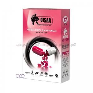 کاندوم سزار مدل Anti-Bacterial بسته 12 عددی