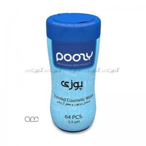 دستمال مرطوب و معطر آرایشی Poosy کد 01