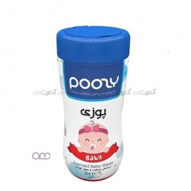 دستمال مرطوب و معطر کودک Poosy کد 02