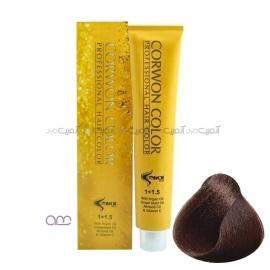 رنگ مو قهوه ای طلایی متوسط کرون کالر شماره 6.75