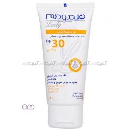 کرم ضد آفتاب هیدرودرم سری Lady SPF30 وزن 50 گرم