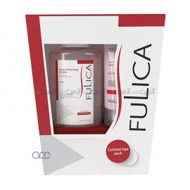شامپو و نرم کننده فولیکا Fulica مخصوص موهای رنگ شده بسته دو عددی