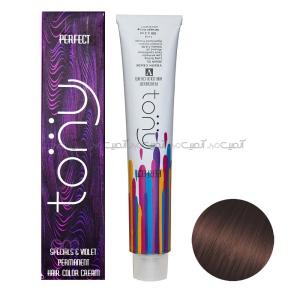 رنگ مو تونی سری بلوطی شماره 6.74 رنگ شاه بلوطی حجم 100 میلی لیتر