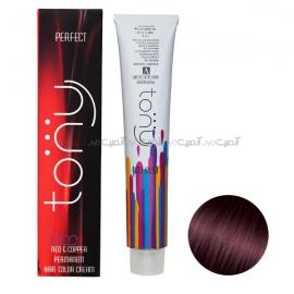 رنگ مو تونی سری قرمز شماره 5.55 رنگ قرمز یاقوتی حجم 100 میلی لیتر
