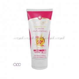 کرم ضد آفتاب سان سیف sunsafe مدل SPF50 anti ageing