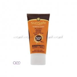 کرم ضد آفتاب سان سیف sunsafe مدل SPF50 Acneic