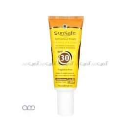 کرم دور چشم حاوی ضد آفتاب سان سیف SPF30 sunsafe