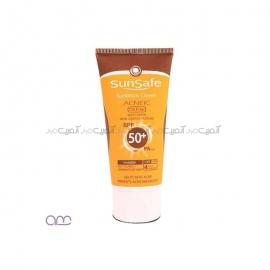 کرم ضد آفتاب آنتی آکنه سان سیفSPF50 sunsafe