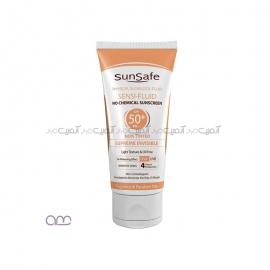 کرم ضد آفتاب سان سیف sunsafe مدل SPF 50+ sensi-Fluid