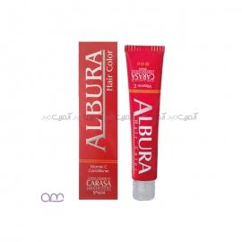 رنگ مو آلبورا albura مدل carasa شماره N4-5.0 رنگ قهوه ای روشن حجم 100 میلی لیتر