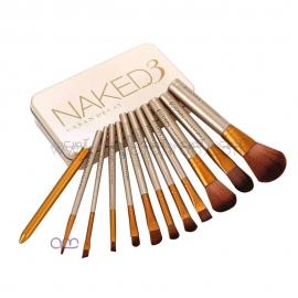 ست براش آرایشی اربن دیکی urban decay مدل Naked طلایی 12 عددی