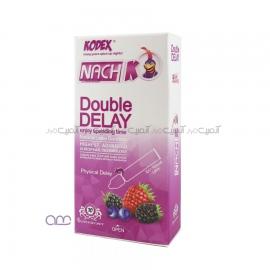 کاندوم تاخیری ناچ کودکس Nach Kodex مدل Double Delay بسته 10عددی
