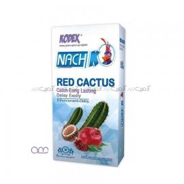 کاندوم تاخیری ناچ کودکس Nach Kodex مدل RED CACTUS بسته 12عددی