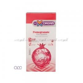 کاندوم ایکس دریم Xdream مدل Pomegranate بسته 12 عددی