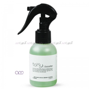 محلول تونی tony مناسب موهای ضعیف و آسیب پذیر و تنظیم کننده چربی پوست سر حجم 100میلی لیتر