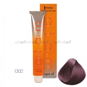 رنگ مو بادمجانی روشن حاوی روغن آرگان Tempting شماره 6.20